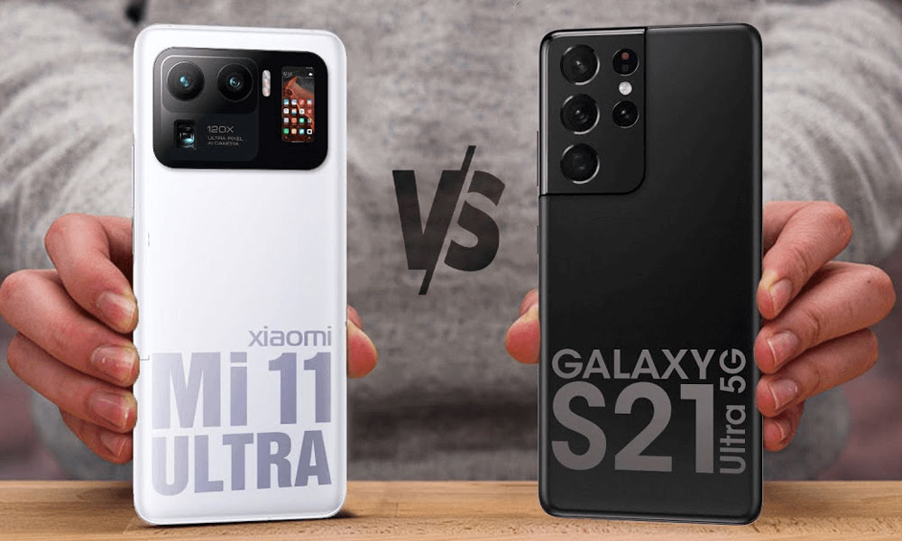 You are currently viewing Kompetisi Ponsel Ultra, Galaxy S21 Ultra Vs Mi 11 Ultra